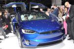 Europapremiere in Genf: das Tesla Model X.