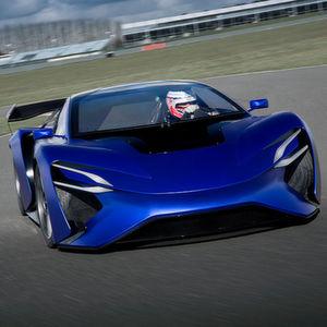 Das Elektroauto von Techrules mit 768 kW Spitzenleistung: Der Turbinen-Lader sorgt für eine Reichweite von über 2000 km.