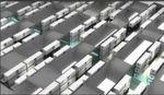Abbildung 3: Die vorbereiteten Container sollen quasi im Regal verstaut werden; jeweils drei übereinander.