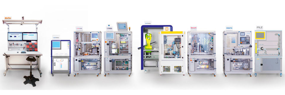 Industrie-4.0-Demonstrationsanlage von SmartFactoryKL mit Komponenten von insgesamt 16 Partnerunternehmen wie IBM und Rexroth-Bosch, die das aktuell Machbare an modularer Produktion zeigen soll.