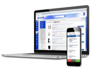 """Software-Oberfläche der E-Procurement-Plattform""""TradeCore"""" von Onventis."""