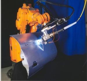 Robotergeführtes Laserschweißen von Aluminium Bild: Landesmesse Stuttgart