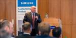 Frank Kalisch, Director IT- Storage Samsung, begrüßt die Kunden als Gastgeber und führt sie durch die Veranstaltung.