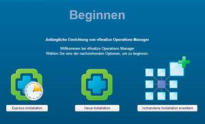 vRealize Operations Manager wird über eine Web-Oberfläche eingerichtet.