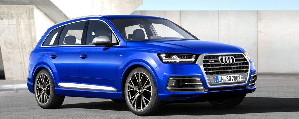 Audi hat das Konzept der S-Modelle auch beim SQ5 mit Dieselmotor erfolgreich umgesetzt. In der Q7 Baureihe führen die Ingolstädter dies jetzt mit dem SQ7 TDI weiter – mit einem V8-TDI-Motor, 320 kW/435 PS aus vier Litern Hubraum und 900 Newtonmetern maximalem Drehmoment.