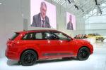 Audi-Chef Rupert Stadler präsentierte anlässlich der Jahrespressekonferenz erstmals eine Modellneuheit: den bärenstarken SQ7 TDI. Mit neuem 4,0-l-V8-Biturbo-Diesel und elektrisch angetriebenem Verdichter verfügt er über 320 kW/435 PS Leistung.