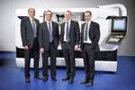 Die Geschäftsleitung Studer und teilweise Schaudt Mikrosa (v. l. n. r.): Fred Gaegauf, Dr. Gereon Heinemann, Gerd König, Jens Bleher.
