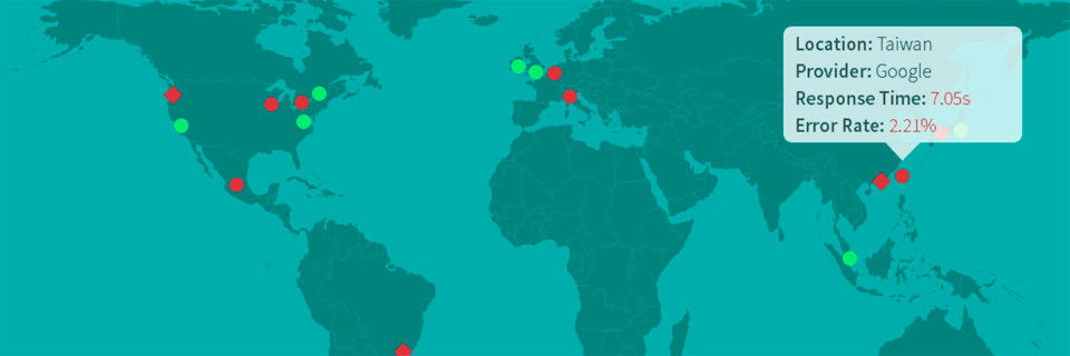 Wie erleben Nutzer aus Asien oder Südamerika das mobile Serviceangebot? Antwort darauf gibt die Cloud, indem App-Zugriffe aus allen relevanten Regionen erzeugt werden können.