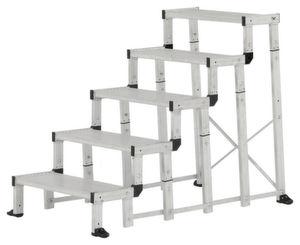 In fünf Einzelmodulen kommt der modulare Industrietritt von Hymer-Leichtmetallbau daher.