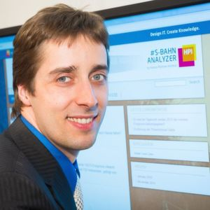 Macht die S-Bahn-Fahrt smart durch Twitter-Auswertung: Der Potsdamer HPI-Forscher Dr. Matthieu-P. Schapranow