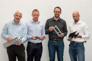 Die Geschäftsführung von Eepos (v.l.n.r.): Friedhelm Mücher, Armin Mücher, Volkhardt Mücher, Timo Koch.