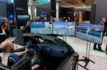 Am Stand von IBM in Halle 2 konnten Autofahrer schon einmal etwas in die Zukunft blicken und Fahrsimulationen live erleben.