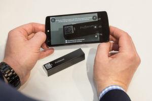 Das Kopierschutzmuster BitSecure lässt sich per Smartphone-App erfassen und überprüfen.
