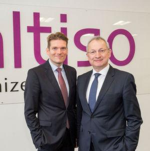 Saltigo-Chef Wolfgang Schmitz (rechts) geht in Ruhestand. Nachfolger wird zum 1. April Dr. Torsten Derr.