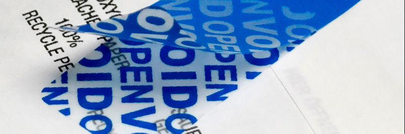 Void-Etiketten von Mediaform gibt es mit drei unterschiedlichen Sicherheitsmerkmalen.