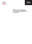 IBM Tivoli Access Manager for Enterprise Single Sign-On
