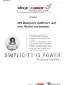 Mit DataCore Software auf den Notfall vorbereitet