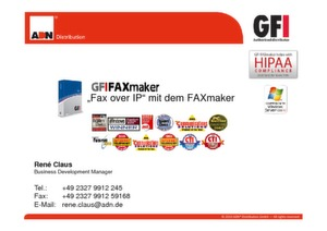 Fax over IP mit dem GFI FAXmaker 2010