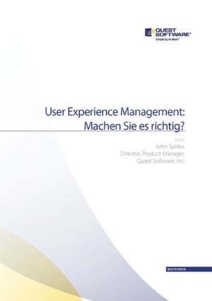 User Experience Management: Ein Hilfsmittel für alle