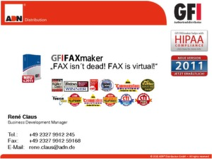 Fax over IP mit dem GFI FAXmaker