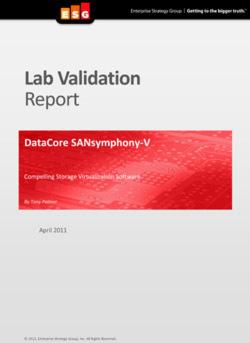 "Lab Validation Report ""DataCore SANsymphony-V"""