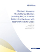 Effectively Managing Oracle Standard Edition
