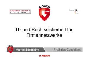 IT- und Rechtssicherheit für Firmennetzwerke