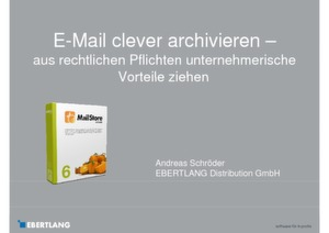 Clevere E-Mail Archivierung