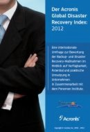 Global Disaster Recovery Index 2012