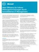 Mehr Effizienz durch konsolidiertes IT-Management
