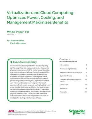 Optimierung der Stromversorgung, Kühlung und Verwaltung maximiert Vorteile