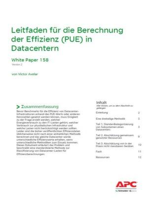 Berechnung der Effizienz (PUE) in Datacentern