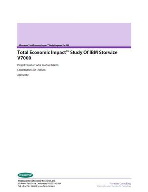 Total Economic Impact™ Studie von IBM Storwize V7000