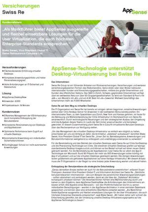 Swiss Re zentralisiert individuelle Einstellungen für 4.000 Desktop-Benutzer