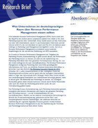 Revenue Performance Management