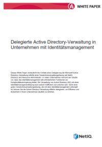 Delegierte Active Directory-Verwaltung