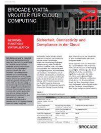 Sicherheit, Connectivity und Compliance in der Cloud