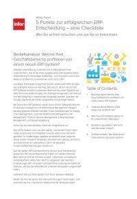 5 Punkte zur erfolgreichen ERP-Entscheidung