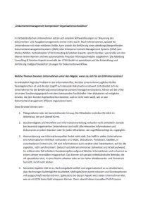 Dokumentenmanagement kompenisiert Organisationsschwächen