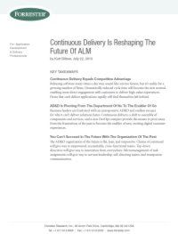Continuous Delivery gestatet die Zukunft des ALM neu