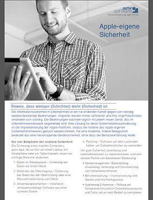Apple-eigene Sicherheit
