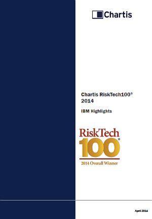 RiskTech 100 - 2014 Gesamtsieger