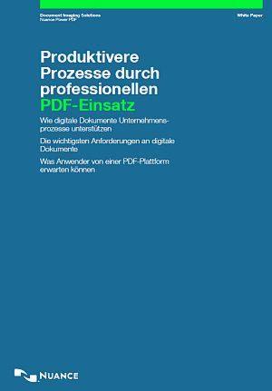 Produktivere Prozesse durch professionellen PDF-Einsatz