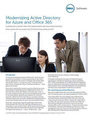Modernisieren von Active Directory für Azure und Office 365