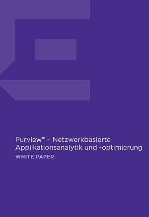 Netzwerkbasierte Applikationsanalytik und -optimierung