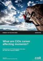 What are CIOs career affecting moments?