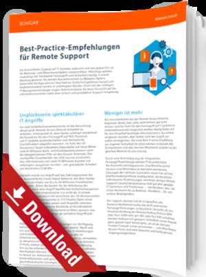 Best-Practice-Empfehlungen für Remote Support
