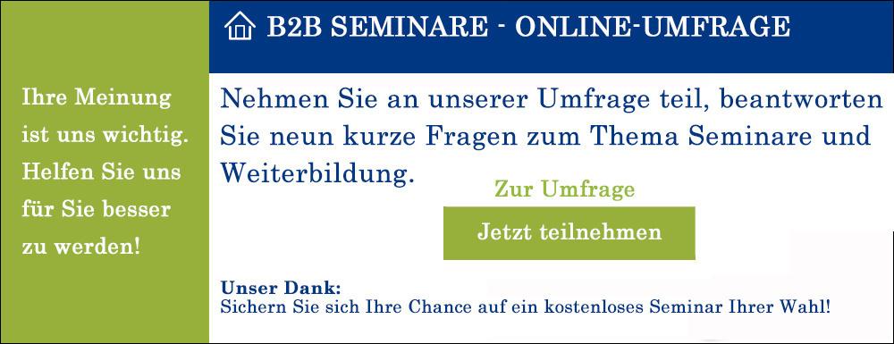 B2B Seminar-Umfrage
