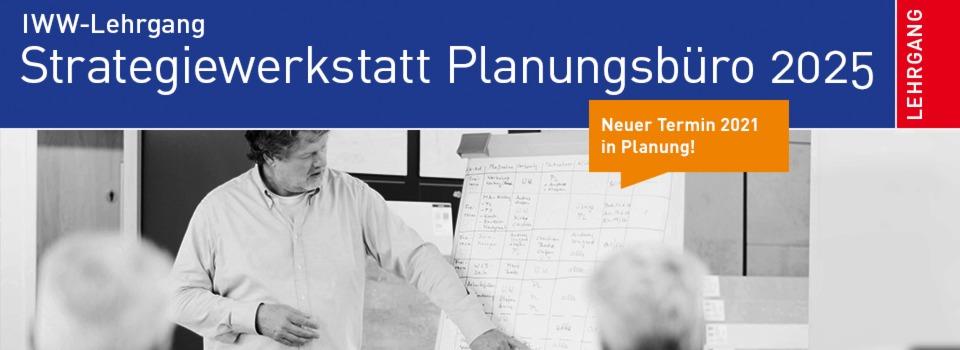 Gut bekannt IWW-Lehrgang Strategiewerkstatt Planungsbüro 2025 VI25