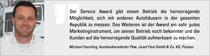 Michael Fasching, Service Award